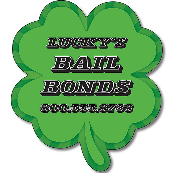 "Customized Magnet - 4-Leaf Clover Shape (3"" x 3.375"") - 25 Mil"