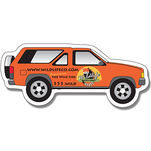 "Promotional Magnet - SUV Shape (5.125"" x 2.25"") - 20 Mil"