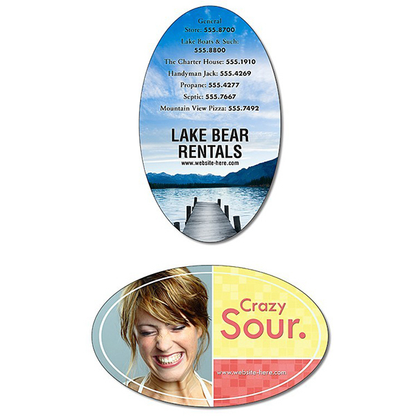 "Printed Magnet - Oval Shape (3"" x 5"") - Outdoor Safe"