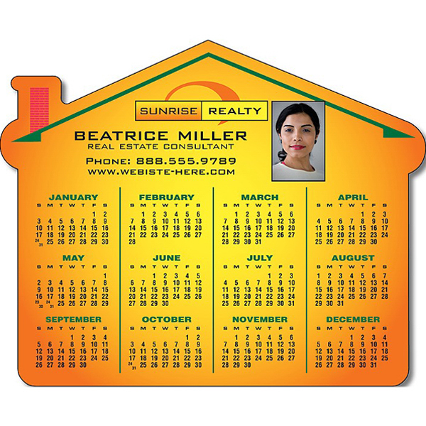 "Promotional Real Estate Magnet - House Shape 4.25"" x 3.5"" - 25 Mil"