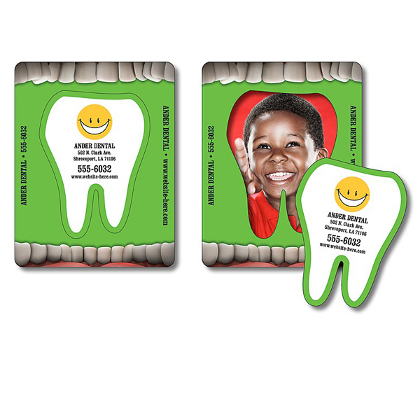 Imprinted Magnet - Picture Frame Tooth Punch (3.5x4.5) - 20 Mil