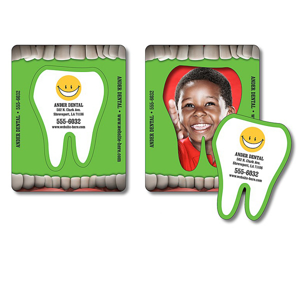 Promotional Magnet - Picture Frame Tooth Punch (3.5x4.5) - 25 Mil