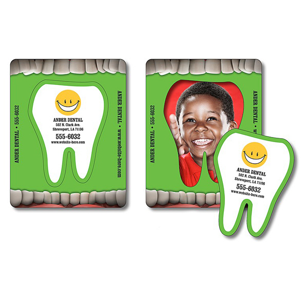 Imprinted Magnet - Picture Frame Tooth Punch (3.5x4.5) - 30 Mil