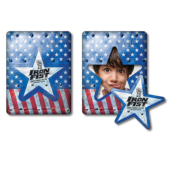 "Personalized Magnet - Picture Frame Star Punch 3.5"" x 4.5"" - 20 Mil"