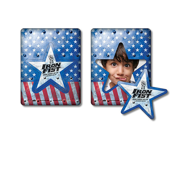 "Personalized Magnet - Picture Frame Star Punch 3.5"" x 4.5""- 25 Mil"