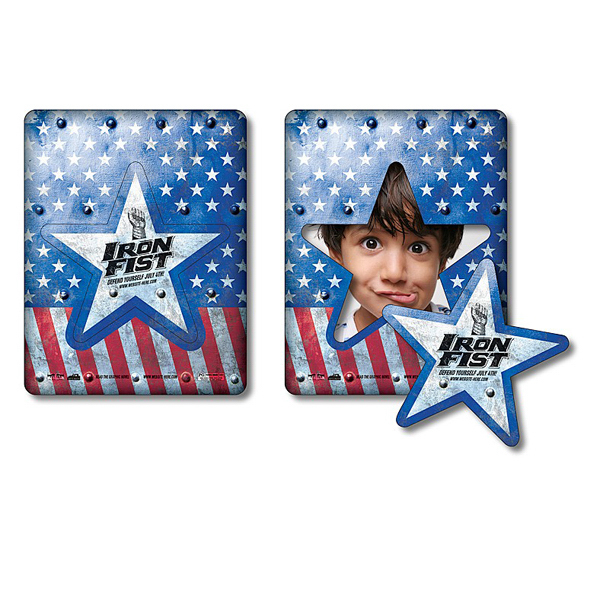 Imprinted Magnet - Picture Frame Star Punch (3.5x4.5) - 30 Mil