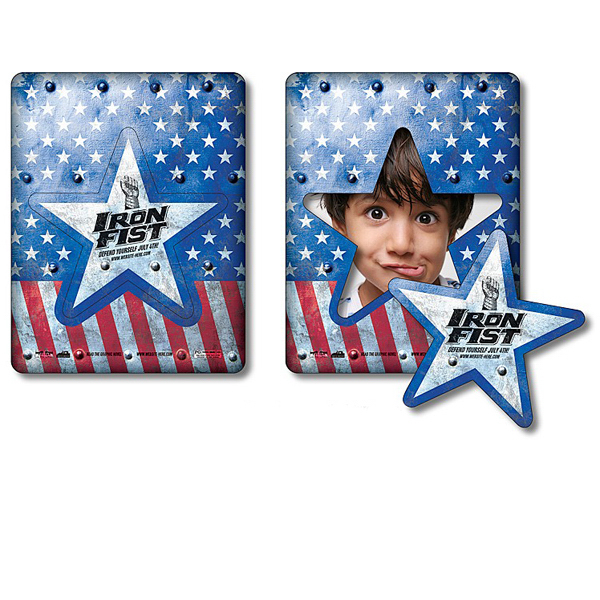 Customized Magnet Picture Frame Star Punch 3.5x4.5 - Outdoor Safe