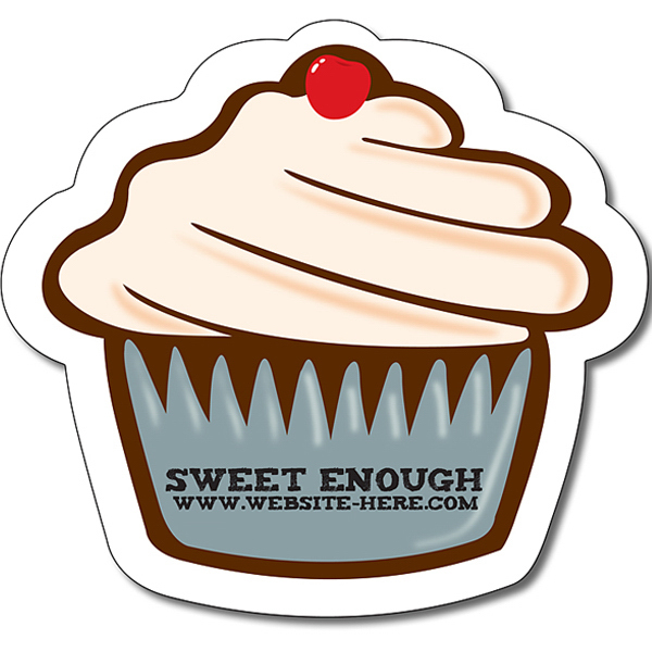 Personalized Magnet - Cupcake Shape (Approx. 4.0625x3.75) - 20 Mil