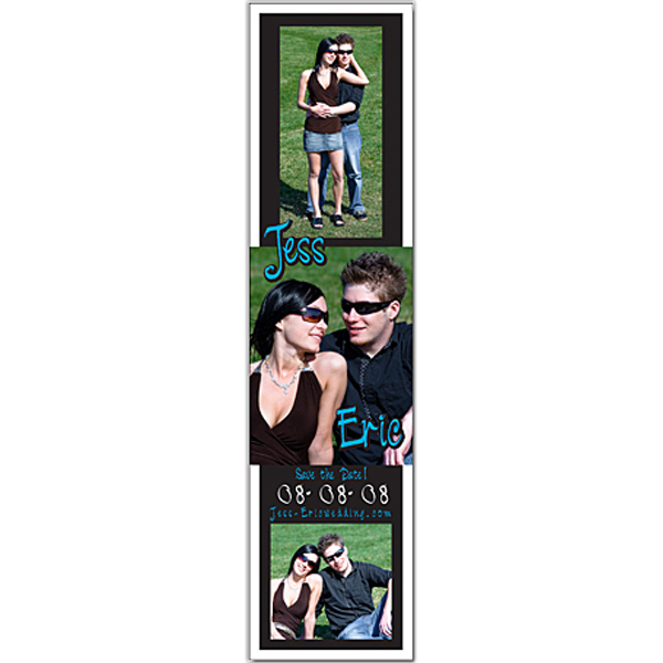 "Personalized Announcement Magnet 2"" x 8"" Square Corners - 20 Mil"