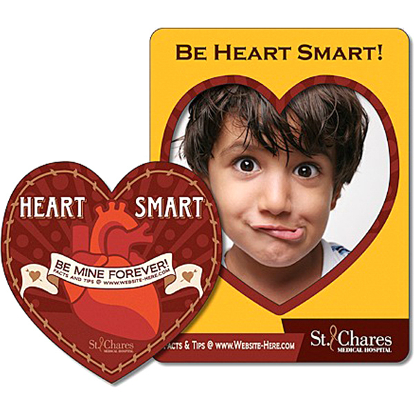 Printed Health Magnet Picture Frame Heart Punch - 25 Mil