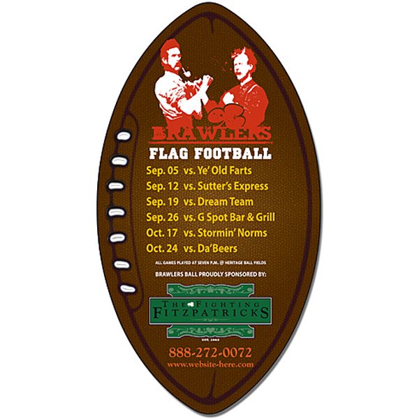 "Personalized Magnet - Football Shape (3"" x 5.5"") - Outdoor Safe"