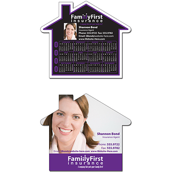 "Promotional Magnet - House Shape 4.5"" x 3.85"" - 25 mil"