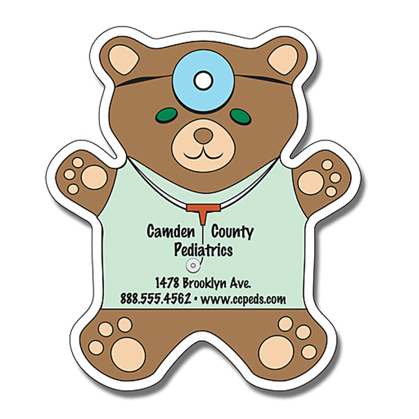 "Personalized Magnet - Teddy Bear Shape 4"" x 4.625"" - 25 mil"