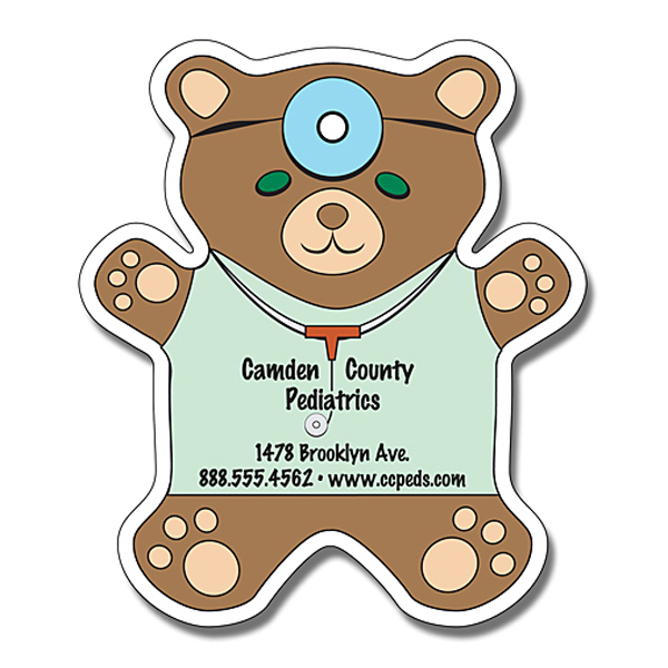 "Customized Magnet - Teddy Bear Shape 4"" x 4.625"" - 30 mil"