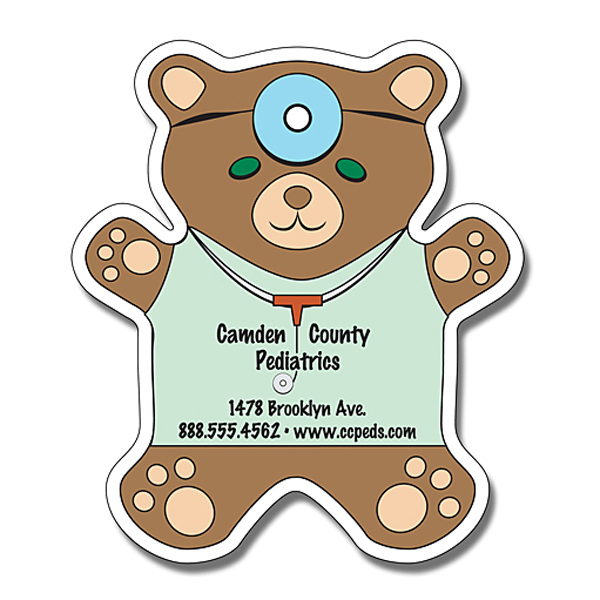 "Promotional Magnet - Teddy Bear Shape 4"" x 4.625"" - Outdoor Safe"