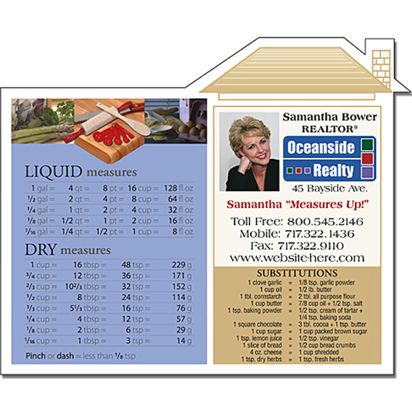 "Printed Real Estate Magnet - House Shape 4.75"" x 3.875"" - 25 Mil"