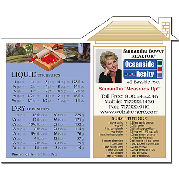 "Customized Real Estate Magnet - House Shape 4.75"" x 3.875"" Outdoor Safe"