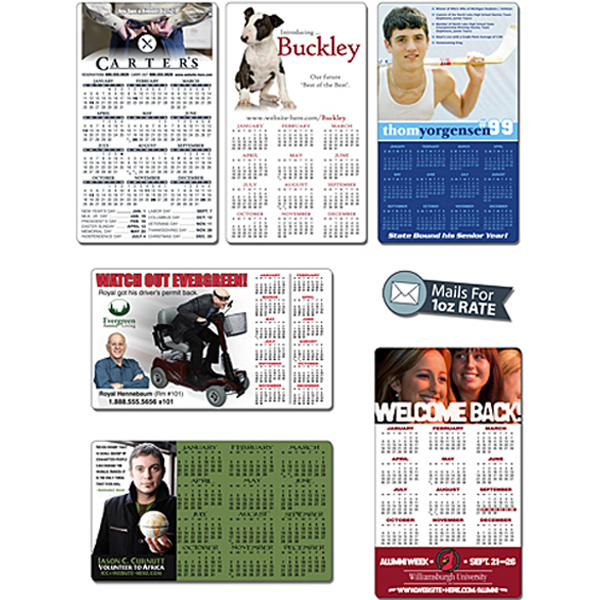 "Personalized Announcement Calendar Magnet 3.5"" x 6"" Round Corners 25 Mil"