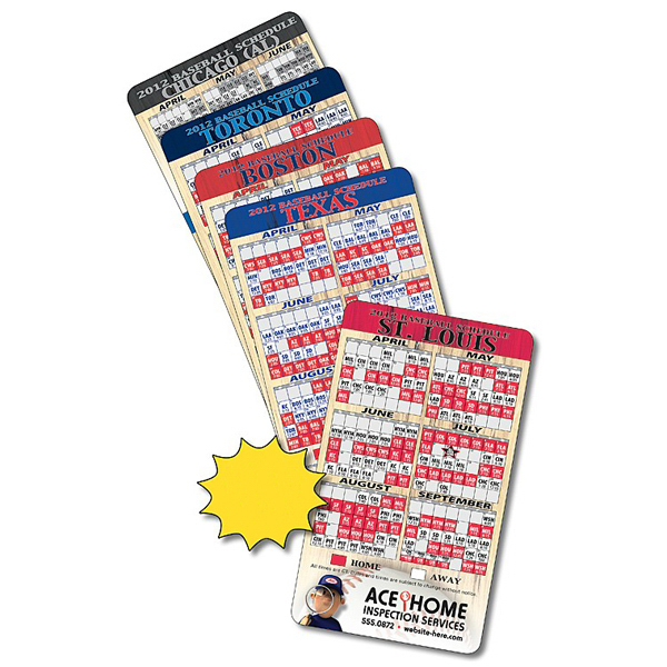 "Personalized Magnet Sport Schedule 3.5"" x 6"" Baseball 20 Mil"