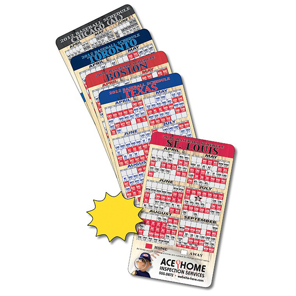 "Custom Magnet Sport Schedule 3.5"" x 6"" Baseball Outdoor Safe"