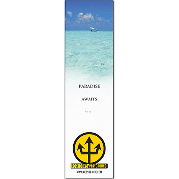 """Imprinted Magnet - 2.5"""" x 9.25"""" Square Corners - Outdoor Safe"""