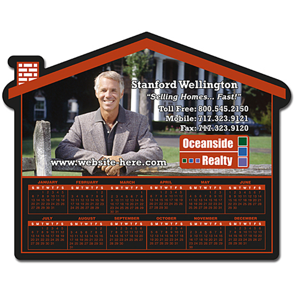 "Promotional Magnet - House Shape 6"" x 4.75"" - Outdoor Safe"