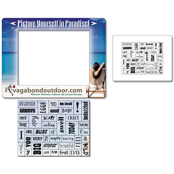 "Printed Magna-Phrase Magnet- Picture Frame 6.5"" x 5"" Outdoor Safe"