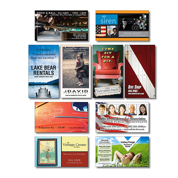 """Customized Business Card Magnet - 3.5"""" x 2"""" Square Corners - 25 mil"""