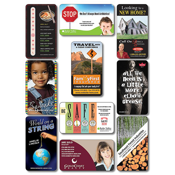 """Imprinted Business Card Magnet - 3.5"""" x 2"""" Round Corners - 20 mil"""