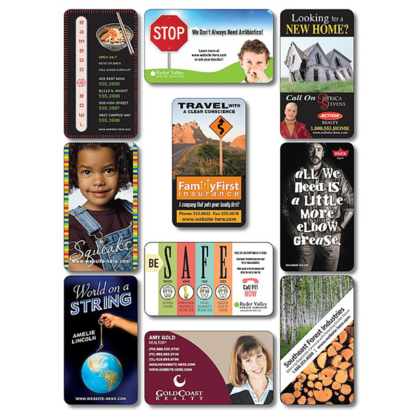 """Imprinted Business Card Magnet - 3.5"""" x 2"""" Round Corners - 25 Mil"""