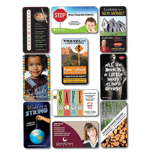 """Personalized Business Card Magnet 3.5"""" x 2"""" Round Corners - 30 Mil"""