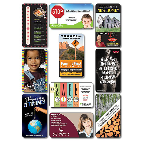 """Personalized Business Card Magnet - 3.5"""" x 2"""" Round Corners Outdoor Safe"""