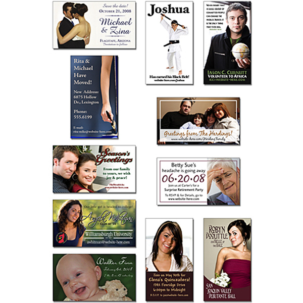 Personalized Announcement Business Card Magnet 3.5x2 Square Corners