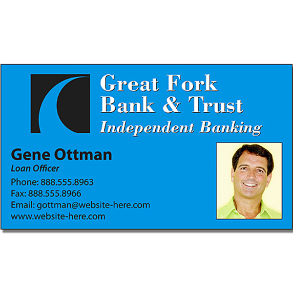 Printed Financial Services Business Card Magnet 3.5x2 Square Corners