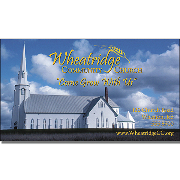 Promotional Religious Business Card Magnet 3.5x2 Square Corners