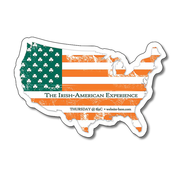"Printed United States Shape Magnet - 3.5"" x 2.34"" - 25 mil"