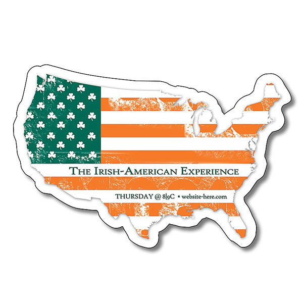 "Customized United States Shape Magnet - 3.5"" x 2.34"" - 30 mil"