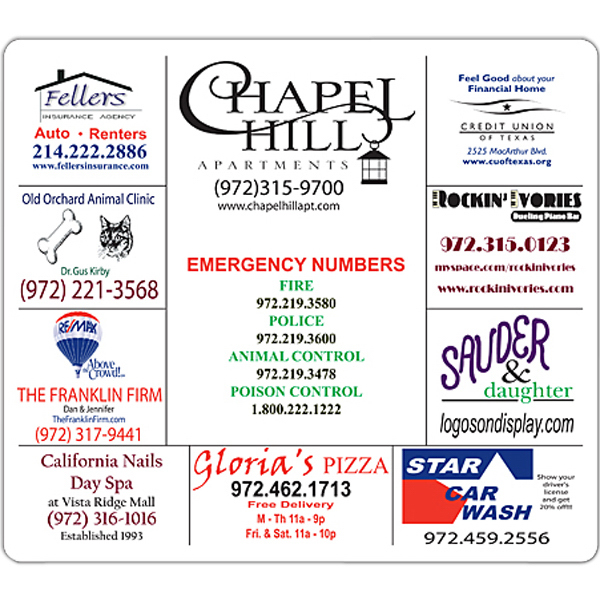 """Printed Magnet - 7"""" x 8"""" Round Corners - Outdoor Safe"""