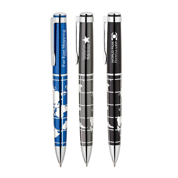 Imprinted Global Power 1 ballpoint