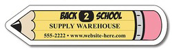 "Promotional Magnet, pencil shape, 4"" x 1"",  20 mil"