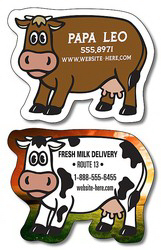 "Personalized Magnet - Cow Shape (2.63"" x 2.06"") Outdoor Safe"