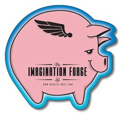 "Customized Magnet, pig shape, 2.9375"" x 2.75"", outdoor safe"