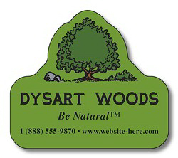 "Printed Magnet, tree shape, 2"" x 1.75"", outdoor safe"