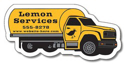 "Printed Magnet, Tanker Truck Shape, 3.625"" x 1.75"",  Outdoor Safe"