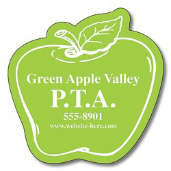 "Imprinted Magnet, Apple Shape, 2.5"" x 2.5"", 25 mil"
