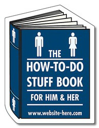 """Personalized Magnet, Book Shape, 2.375"""" x 3.125"""",  20 mil"""
