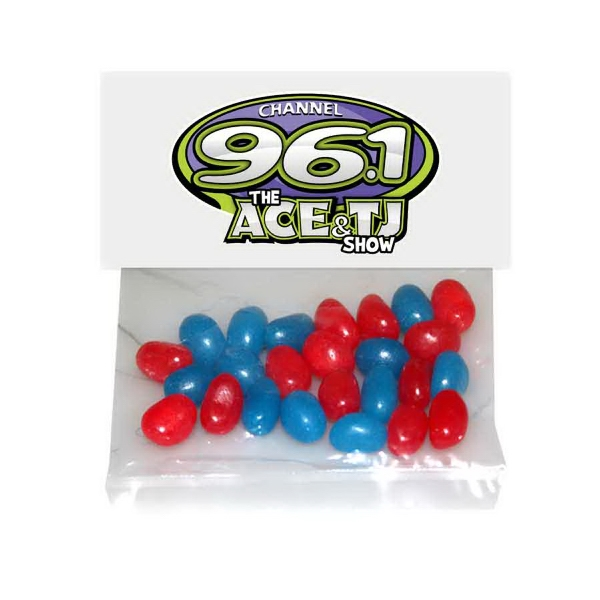 Printed Large Candy Bag (with Header Card) with Corporate Jelly Bean