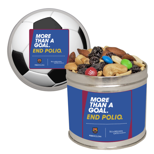 Promotional Half Quart Tin with Trail Mix