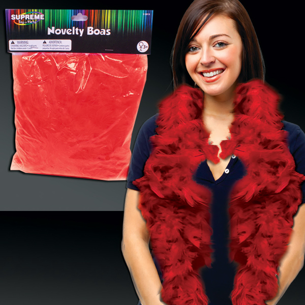 Customized Red Adult Size Feather Boa