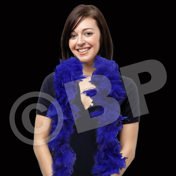 Printed Royal Blue Adult Size Feather Boa